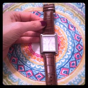 Brand new Michael Kors men's watch, leather band